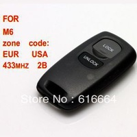 2pcs/lot free shipping best quality wholesale promotion sale Mazda M6 Remote Key 2 Button 433MHZ
