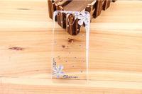 Gift 3D Bling Five Leaf Flower Diamond Case Crystal Transparent Hard Back Cover for Lenovo S890 Free Shipping