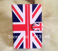 UK Flag Printed Universal Leather Case for 7 inch Tablet PC, Fashion Android Leather Case
