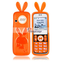 MINI616 Lovely Stylish Dual Cards Dual Standby Cell Phone Orange   Ship from USA-82013723