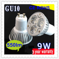 High Power 9W GU10 Dimmable bulbs 480-580Lm LED Light Downlight LED Spotlight bulb no shadow  usually stock it