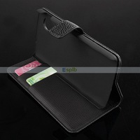 2 Credit Card Slots Folio Stand Luxury Wallet Leather Case for LG NEXUS 5 100pcs/Lot