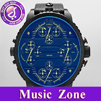 Free shipping hot sale gift watch DZ7262 leather Quartz Mens Watch Wristwatch Movement +original box+logo