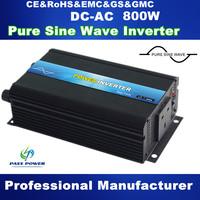 Factory direct 800w inversor pure sine wave dc 12v/24v ac 110v/120v/220v/230v