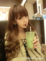 Free shipping 2013 new women's long hair fluffy bangs repair face