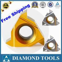 10pcs free shipping 16IR 3TR TIN coating cnc tools carbide threading cutter carbide insert