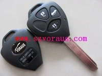 High quality To 3 button remote key shell with TOY47 blade and logo ,  car remote key shell & auto key blanks