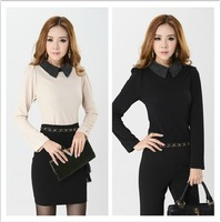 2013 New Promotions Hot Trendy Cozy Women Shirt Wild Slim Fashion Blouse Elegant Cute Long sleeve Chiffon OL Sexy