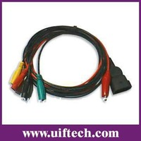 Free shipping code scanner OBD2 connector cable C034 with 4 Clip/KTS for FIAT