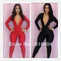 Free shipping New fashion 2013 bandage dress Backless bodycon dress sexy women jumpsuits WC68