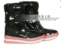 Free shipping 2013 fashion Rubber duck snow boots japanned leather female candy color snow boots
