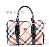 2013 women's new handbag fashion british style luxury plaid bags bucket bag classic pillow bag love gift