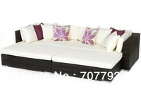 2013 Hot Sale Brown Rattan Outdoor Garden Daybed Sofa