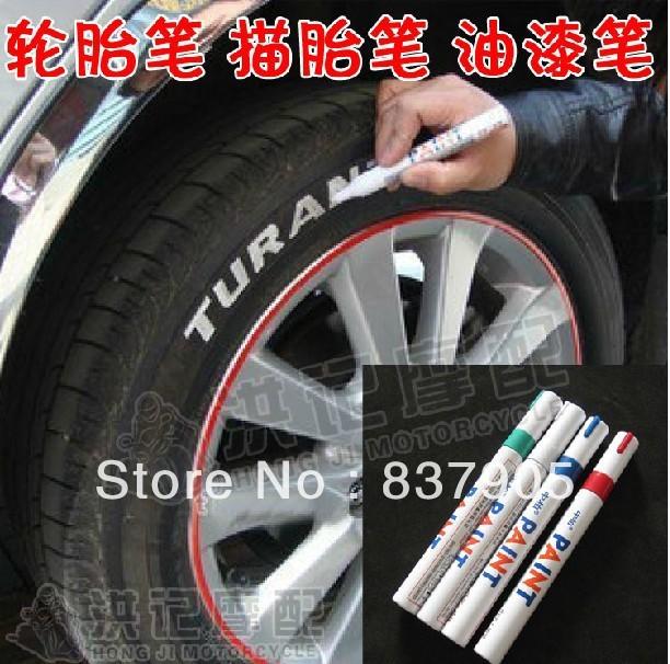 Free Shipping 12pcs/lot Personalized motorcycle car tires scooter tire pen up painting art brush pen paint pen graffiti pen(China (Mainland))
