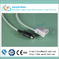 Free shipping!! SCHILLER direct reusable pediatric finger clip spo2 sensor,masimo module, 7pin medical TPU,CE&ISO 134852