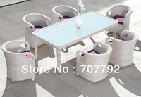 2013 New Design Outdoor Furniture Rattan Dining Table And Chairs Set