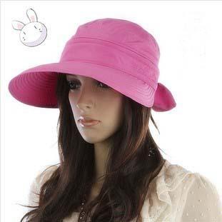 Hot Summer Женщины Hat Bow Big Brim Visors Dual Sun Hat 7 Цветs