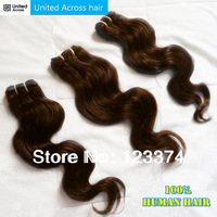 Hot Sale Cheap Mocha Brazilian Hair Color #2 Dark Brown Brazilian Body Wave Hair Weaves,Remy Human Hair Extension 6 pcs