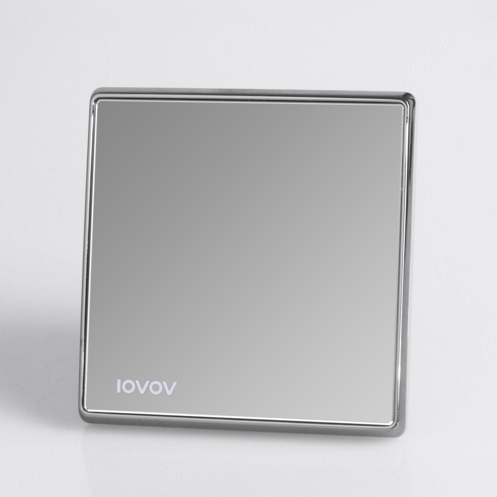 Wall x5 blank box panel black crystal mirror switch 86 quality personalized socket(China (Mainland))