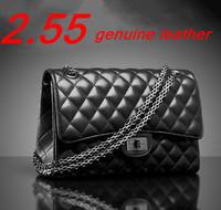 Women leather handbag 2.55 plaid chain genuine sheepskin leather Brand bag fashion designer shoulder bag women's messenger bag