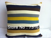 NEW Arrive home textiles 100% cotton Canvas stripe decorative cushion cover for sofa 50*50 F027