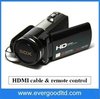 3.0 inch Touch Screen Digital Video Camera 1080P (Full-HD) 10X optical zoom with remote control and HDMI cable HDV-Z35