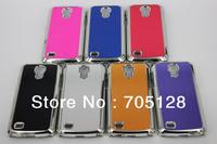 100pcs x Metal Aluminum Chromed Brushed Hard Case For Samsung Galaxy S4 Mini i9190