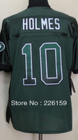 Free Shipping Wholesale 2013 New Football Jerseys New York #10 Santonio Holmes Drift Fashion Green Elite Jerseys 40-56
