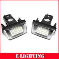 2XLED License Plate Light for Peugeot 206 207 306 307 406 407 308 5008 Citroen C3 C3 II C3 PICASSO C4 PICAS