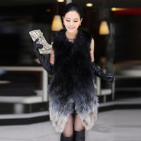 Sukracarya 2013 high quality raccoon fur vest outerwear sl1129
