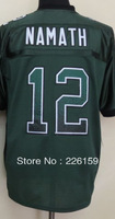 Free Shipping Wholesale 2013 New Football Jerseys New York #12 Joe Namath Drift Fashion Green Elite Jerseys 40-56
