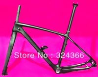 "FR-503 Full carbon UD Matt Matte MTB 650B 27.5ER mountain bike 27.5"" Wheel frame ( BSA)  +  fork  + Seatpost + Clamp + Cage"
