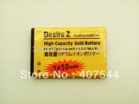 FREE DHL   shipping  100pcs/Iot   Gold 2450mAh Battery  For        Desire 2 Z S Saga G11 G12 S510e