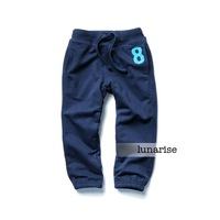 Children's clothing 2013 autumn and winter 100% cotton wei pants plus velvet pants child pants clip male child long trousers n