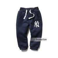 Children's clothing 2013 autumn plus velvet pants health pants male child baby pants clip double layer pants long trousers n