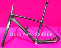 "Full carbon UD Matt Matte 26"" Wheel mountain bike frame 26ER MTB  BB30 frame - 18""  + fork + seatpost + clamp + cage"