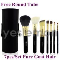 Emily 7 pcs 7pcs Black Makeup Brushes Tools Goat Hair Makeup Brushes Set & Kits Portable Cosmetics Brushes Tools + Round Tube