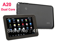 7 inch Allwinner A20 Dual Core Android 4.2 WiFi HDMI Tablet PC 512MB+4GB -Black Color