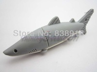 creamy white Shark 4GB 8GB 16GB 32GB Real USB 2.0 Flash Memory Stick Pen Drive Thumbdrive U-disk Card  Mobile Storage Devices