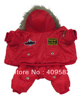 Air Force Winter Jumpsuit PT3031 Red Clothes For Pets And Dogs