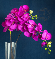 (10pcs/lot) Artificial Simulation Purple Phalaenopsis Moth Orchid  Christmas Decorations