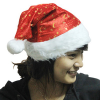 Red plush christmas hat moon hat christmas clothes