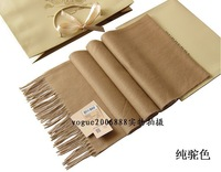 New Arrival Free Shipping brand man and woman cashmere pure color scarf retail