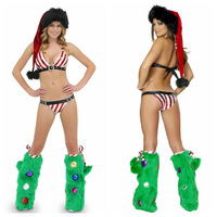 2013 New Christmas Costumes Stripe Lingerie Santa Sex Women Costume Cheap price Free Shipping Fast Delivery