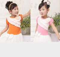 New Arrival Children Hot Summer Dress Girl Princess Mesh Dress With Lace