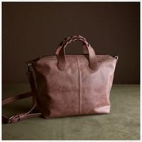 Muji high quality - 210 satchel bag leather bag portable one shoulder cross-body women's genuine leather handbag