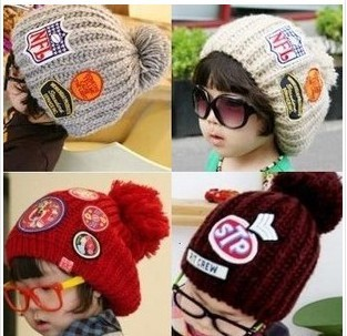 New Korea Fashion Baby Hat Knitted Winter Caps Beanies Children Boys Hats(China (Mainland))