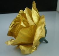 Hot ! 100Pcs Artificial Flowers Gold Roses Flower Head Wedding Decorative Flower  (A0010058)