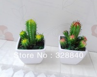 2 Sets/lot Simulation cactus succulents cactus artificial plant home furnishings decorative floral artificial flowers