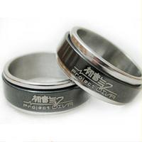 Ring finger ring miku black steel transhipped necklace